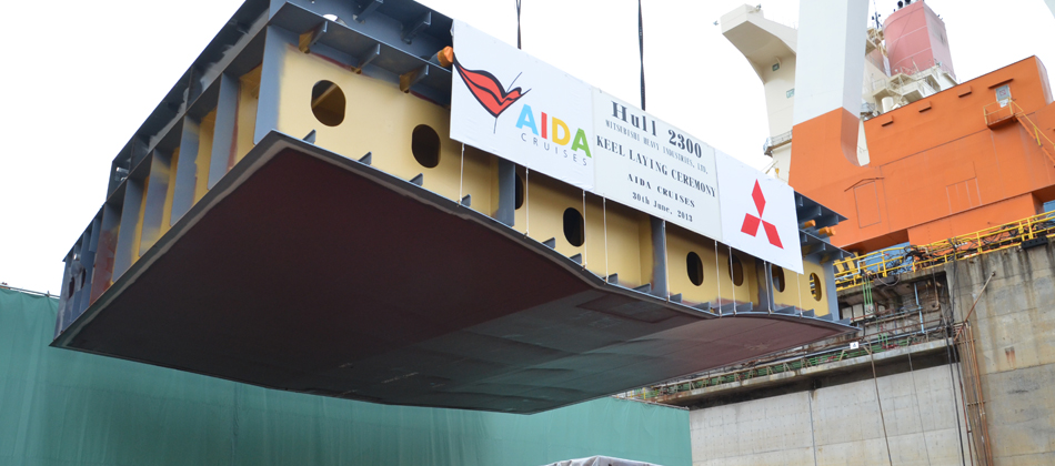 AIDA Cruises celebrates the keel laying of its new generation of ships