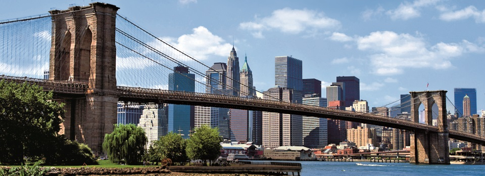 Brooklyn Bridge und New Yorker Skyline